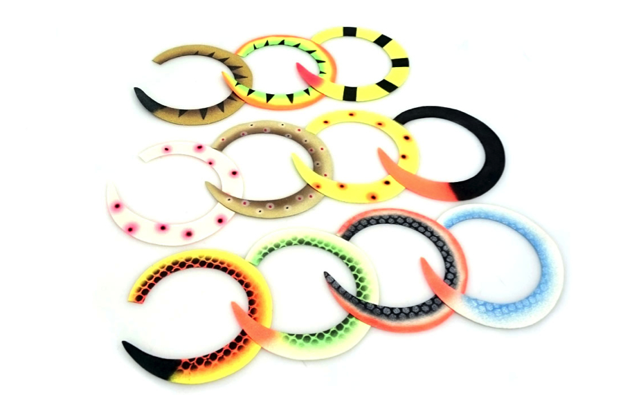 Custom Wiggle Tails Jumbo Slim Tails by Backlure
