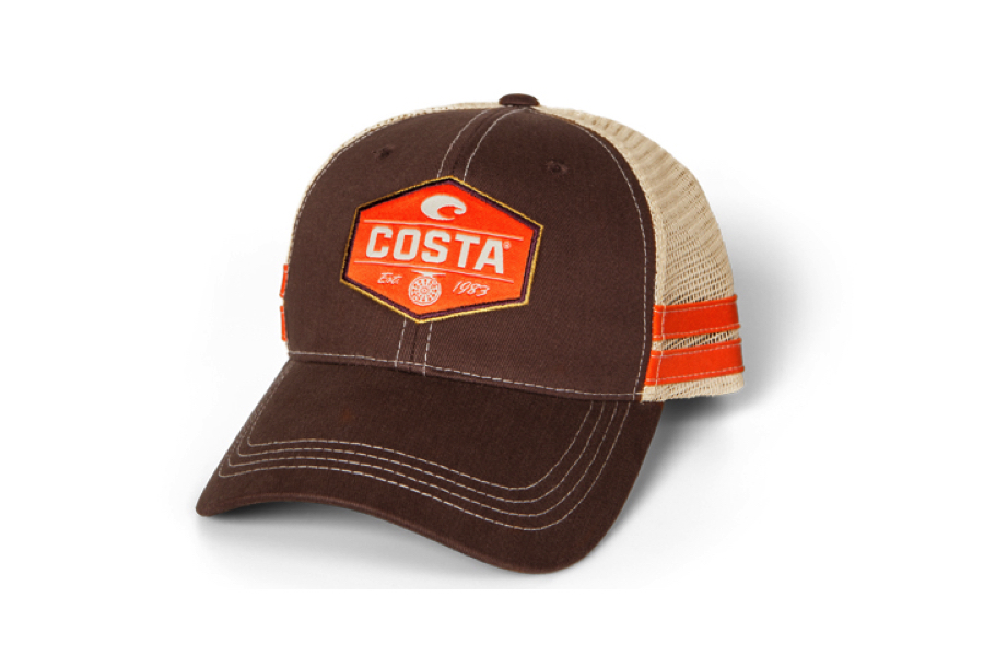 Costa Reel trucker Hat Brown