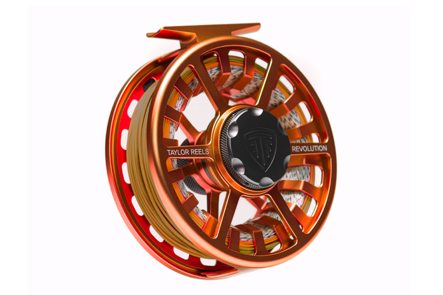 Taylor Fly Reel Revolution Orange Crush