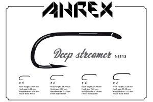 Ahrex NS115 Nordic Salt Deep Streamer Hook product sheet