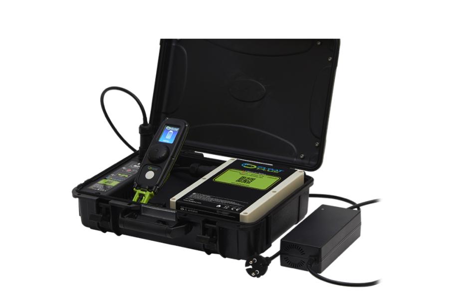Float Plus Pro waterproof battery case top view