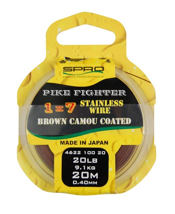 Spro 1X7 Brown Coated Wire 20m