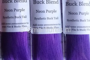 Jerkbaitmania Pike Skinz Buck Blend Neon Purple
