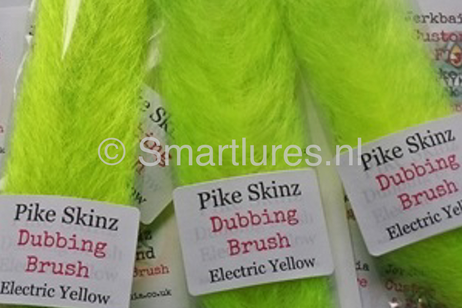 Jerkbaitmania Pike Skinz Dubbing Brush Electric Yellow