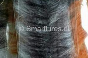 jerkbaitmania Pike Skinz Buckblend Brush Black-Black Sparkle