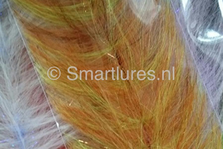 jerkbaitmania Pike Skinz Buckblend Brush Copper-UV Yellow
