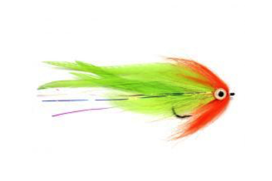 Bauer Pike Deciever Red and Chartreuse