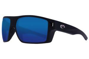 Costa Diego Matte Black Blue Mirror 580P