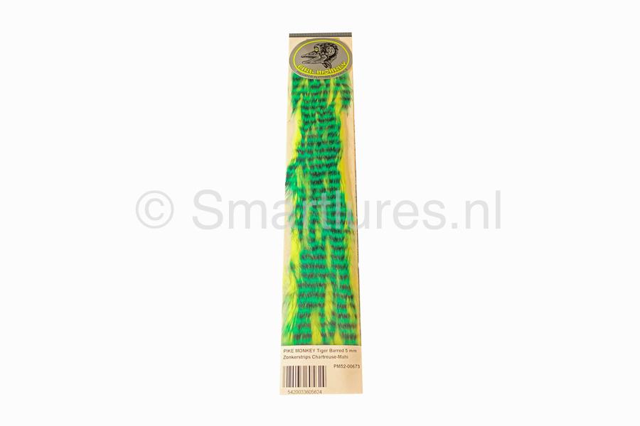 Pike Monkey Tiger Barred Magnum Zonker Chartreuse-Mahi