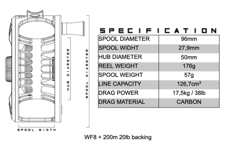 ALFA Artic reel 7+ specifications