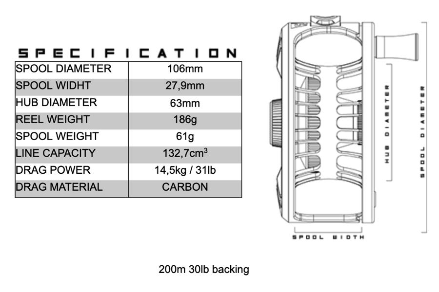 ALFA Artic reel 9+ specifications